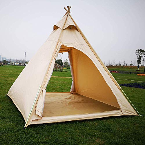 ZHANGLE Camping Zelthaus Outdoor Hochleistungs Baumwolle Leinwand Camping Indian Tipi Zelt für 2~3 Personen