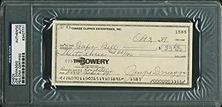Yankees Joe Dimaggio Signed 1989 Check 'Joseph Dimaggio' Slabbed - PSA/DNA Certified - Baseball Slabbed Autographed Cards