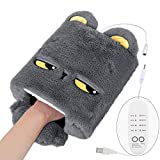 Heated Mouse Pad Hand Warmer, [Newest 2020] USB Heated Mouse Pad With Wrist Support Timing Switch And Temperature Adjustable, Cool Winter Gift For Men And Women Office Home Computer Laptop Work (Gray)