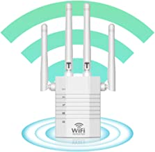 $59 » WiFi Extender - WiFi Booster, WiFi Repeater, Cover Up to 2500 sq.ft and 30 Devices, 1200Mbps Wireless Extender Booster wit...