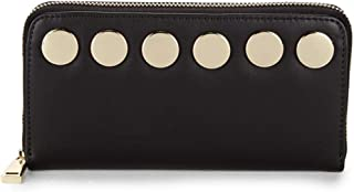 French Connection Studded Zip-Around Wallet - Black