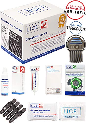 Official LICE.ORG Complete Lice Kit - Head Lice Treatment Kit with 31 Products to Quarantine, Prep and Manage A Lice Incident. Non-Toxic and Pesticide Free