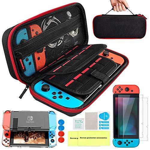 Th-some Kit de Accesorios 14 en 1 para Nintendo Switch, Funda Protectora...