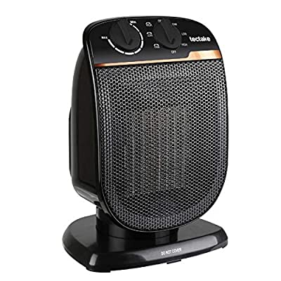 Electric Space Heater Portable - Oscillating Ceramic Fan Heater with Adjustable Thermostat, Overheat Protection, For Personal Indoor Office Desk Garage Heaters 1500 W