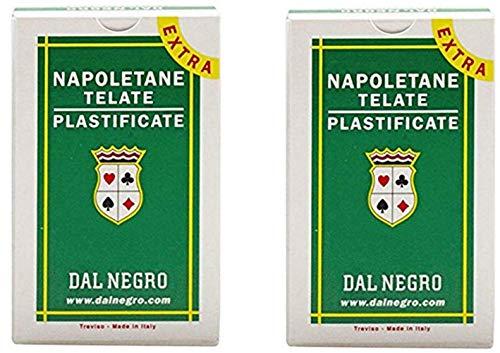 Dal Negro - Carte napoletane 81 Extra 014004, carte da gioco regionali italiane con confezione verde, mazzo da 40 carte (confezione da 2)