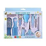 Kit de aseo para bebés 10 en 1, kit de cuidado de bebés portátil, incluye cepillo para el cabello, peine para uñas y tijeras para bebés recién nacidos, niñas y niños
