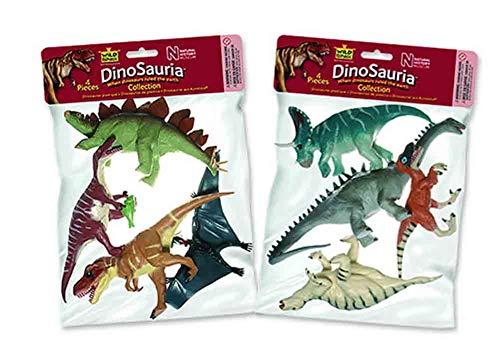 Wild Republic Polybag, Lot de Figurines, Polysac Dinosaure, Cinq Espèces Vivant dans la Dinosaure Animaux de la Jungle, Cadeau pour Enfants, Super pour Le Jeu Interactif