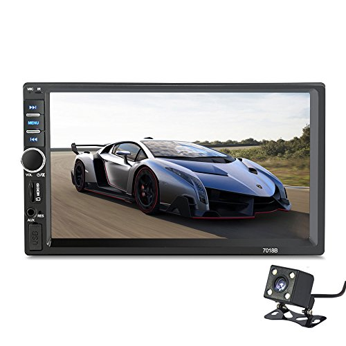 2 Din 7018B General Car Models 7'' inch LCD Touch Screen Car Radio Player Bluetooth Car Audio+ Rear View Camera (NO DVD)