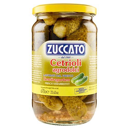Zuccato Ortaggi in Agrodolce Cetrioli, 670g