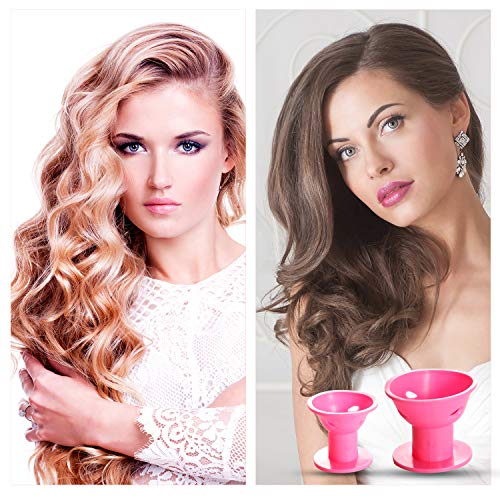 Waloden 48pcs Magic Hair Rollers Silicone Curlers No Clip Silicone Curlers No Heat No Damage to Hair incl 24pcs large…