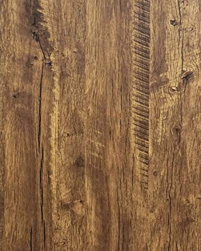 "Distressed Wood Wallpaper Rustic Wood Con-Paper Wood Grain Reclaimed Wood Wallpaper Stick and Peel Self Adhesive Wallpaper Removable Contact Paper Wood Look Wallpaper Roll Brown 78.7""x17.7'"