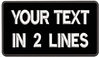 Details about  /Custom patches iron on shirt custom name patches uniform shirt patches 2 Lines