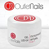 Gel UV 3 en 1 Naturel UV/Led Monophase Rose 50ml / 3en1 gel ongles = Base + Construction + Finition / monophasés Mono Phase / Gel Monophase (3 en 1)
