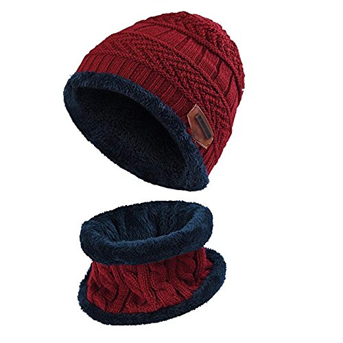 10901f4b Aruny Winter Hat Hat and Scarf Sets for Men & Women Fall/Winter Hat Double