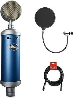 ميكروفون بلو بيرد SL كبير الحجم ستوديو بعدسة زجاجية مع فلتر كيلوبي بوب وحزمة كابل XLR