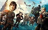 ERTYG 1000 Piezas Rompecabezas Puzzle Rompecabezas Puzzle Cómo Entrenar a tu dragón Hka su Amigo * Color milagroso Adultos y niños Familiar para niños