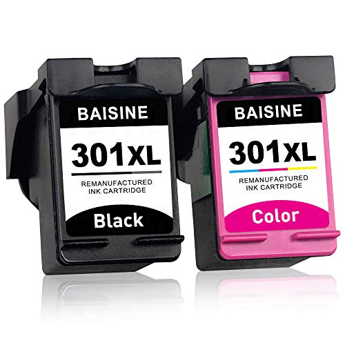 BAISINE 301XL Remanufactured for HP 301 301XL Druckerpatronen for HP Officejet 2620 4630 4632 4634 Deskjet 1000 1010 1050 1510 2000 2050 2510 2545 3050 3055 Envy 4500 4502 4503 4505 4507 5530