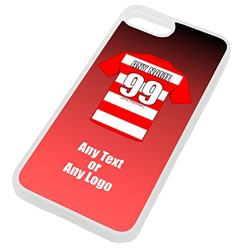 UNIGIFT Personalised Gift - Hamilton Academical iPhone 7 Plus / 8 Plus Case (Football Design Colour) - Any Name Message Unique TPU Mobile Cover Apple - The Accies Club