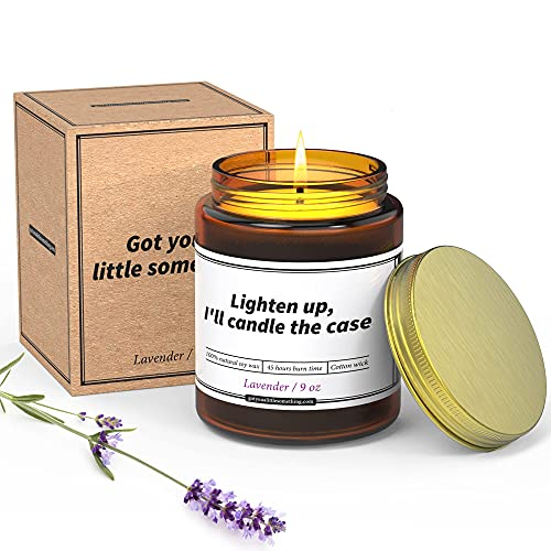 Lawyer Gifts for Women and Men ; Funny 9 oz Lavender Candle ; Humorous Gift for Lawyers, Attorney, Law School Graduation, Law Students, Judges, Bar Exam, Birthdays, Holidays, Christmas Presents