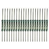 Gebildet 20 pièces Interrupteur Reed Interrupteur Magnétique (2mm * 14mm) Normalement Ouvert (N/O) Contact Reed