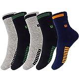 Chaussettes athlétiques pour hommes, Chaussettes de sport à 5 paires Comfort Trainer, Chaussettes en coton, antibactériennes et désodorisantes (2 * noir / 2 * gris / 1 * bleu marine)