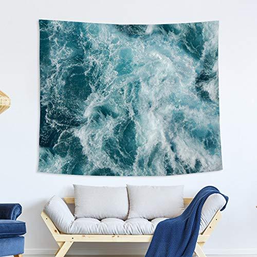 nobranded Blauer Meerestapisserie Ocean Wave Tapisserie Wandtuchdekoration Hintergrundwanddekorationstuch Tapisserie für Raum