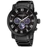 Akribos XXIV Men's AK622 'Grandiose' Chronograph Quartz Stainless Steel Bracelet Watch (Ash Black)