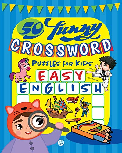 50 funny crossword puzzles for kids: Easy English