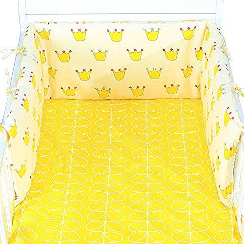 FairOnly Barrière de lit pour bébé avec Fermeture éclair Amovible en Coton pour Pare-Chocs et bébé 180 x 30 cm Kleine Krone - 180 * 30 (Einzelstück)