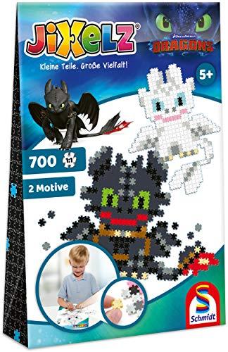 Schmidt Spiele 46131 Jixelz, Dragons, 2 Motive, 700 Teile, Kinder-Bastelsets, Kinderpuzzle, bunt