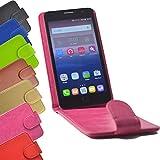 Flip 2 in 1 set Tasche für Hisense Sero 5 Slide Kleber Hülle Case Cover Schutz Bumper Etui Handyhülle in Pink