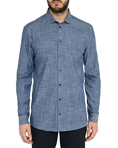 minimum - Hemden klassisch - Herren - Marineblaues Hemd mit italienischem Kragen und Stretchanteil Thompson für Herren - L