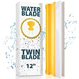 Car Squeegee Water Blade - Silicone Squeegee with 2 Blades 12 Inch - Car Window Squeegee with Ergonomic Grip - Clean in Half the Time - Great Barrier
