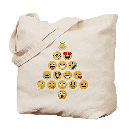 CafePress Emojis Einkaufstasche Emoji, Weihnachtsbaum, canvas, khaki, M