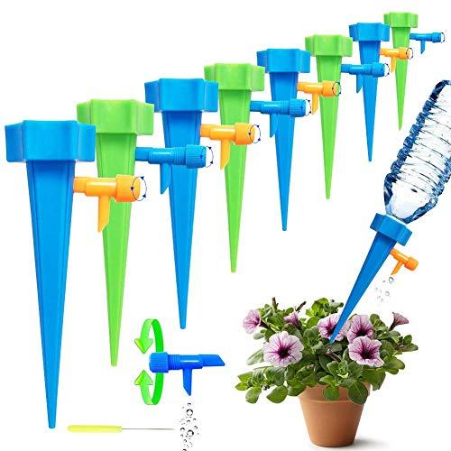 Netrox Wasserspender für Pflanzen | 15x automatisches Bewässerungssystem Bewässerung für Garten Pflanzen Blumen und Zimmerpflanzen Bewässerung | Automatische Gießkannne gießen