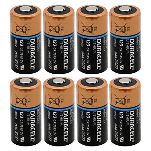 DL123A Duracell Ultra Lithium 8 Batteries-CR123A