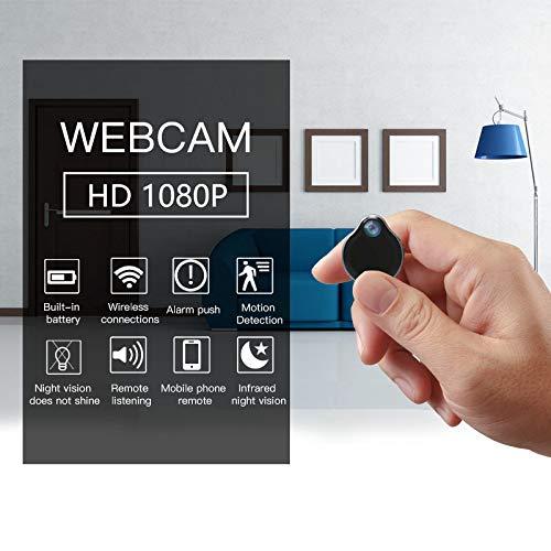 Mini Camara Espia Oculta Videocámara, Winnes 1080P HD Cámara Vigilancia Portátil Secreta Compacta con Detector de Movimiento IR Visión Nocturna Camaras de Seguridad Pequeña Interior/Exterior
