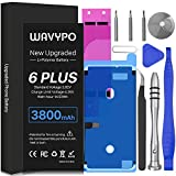 3800mAh Battery for iPhone 6 Plus, Upgrade Wavypo High Capacity New 0 Cycle Battery Replacement for iPhone 6P A1522 A1524 A1593 with Full Repair Tools and Adhesive Strips Kit