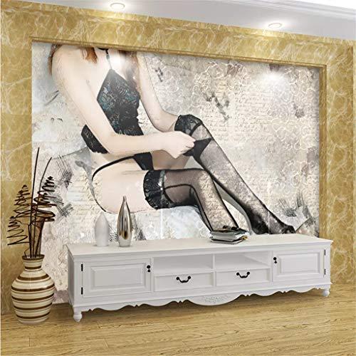 Fototapete Premium 3D Print Kunst Schöne Strümpfe Mädchen Moderne Bunte Design Dekoration Silk Poster Bild Home Decoration 150X105 Cm