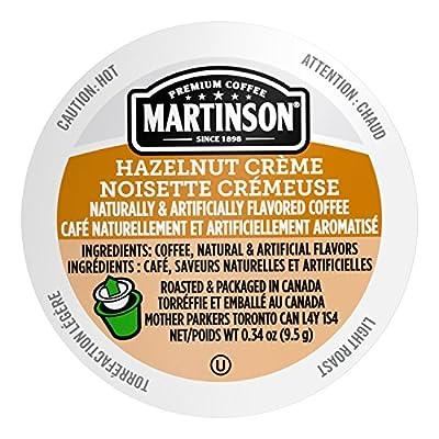 Martinson Single Serve Coffee Capsules, Hazelnut Creme, 48 Count