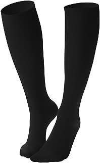 Dr. Comfort Women's Micro Nylon Graduated Compression Knee-High Sock, 10-15 mmHg, Black, X Large