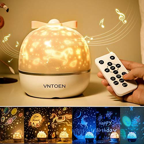 Stellata Proiettore Luce Cielo Proiezione Lampada LED Luci Notturne per Bambino Adulto, con Lettore Musicale Bluetooth, 6 Pellicole per Proiettore, Rotazione 360, per Regalo Natale Compleanno