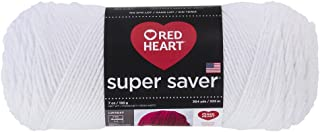 RED HEART E300.0311 Super Saver Yarn, White