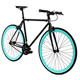 Golden Cycles Single Speed Fixed Gear Bike with Front & Rear Brakes (Howie, 48)