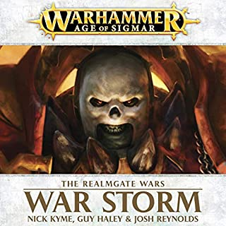 War Storm: Age of Sigmar     Realmgate Wars, Book 2              By:                                                                                                                                 Nick Kyme,                                                                                        Guy Haley,                                                                                        Josh Reynolds                               Narrated by:                                                                                                                                 Jonathan Keeble                      Length: 8 hrs and 43 mins     68 ratings     Overall 4.2