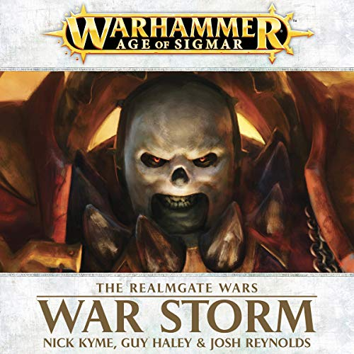 War Storm: Age of Sigmar     Realmgate Wars, Book 2              By:                                                                                                                                 Nick Kyme,                                                                                        Guy Haley,                                                                                        Josh Reynolds                               Narrated by:                                                                                                                                 Jonathan Keeble                      Length: 8 hrs and 43 mins     116 ratings     Overall 4.4