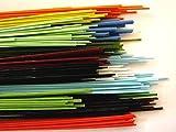 Devardi Glass Handmade COE 90 1/4 lb Spaghetti Stringers, 2mm, 4 ounce Fusing, Beadmaking Rods