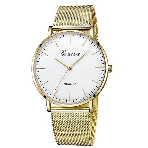 OSYARD Damen Uhr Edelstahl Armband, Armbanduhr Mesh-Metallband Silber Quarz Mode Damenuhr Ultra-flach dünn Ultra Thin Dial,Frauen Klassische Quarz Edelstahl Armbanduhr Armband uhren