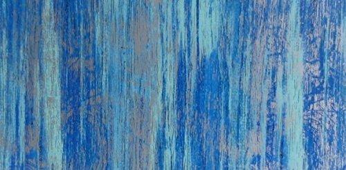 Wachsplatte blau silber, multicolor 20x10 cm - 9763 - Verzierwachsplatte 200x100 mm für Kerzen