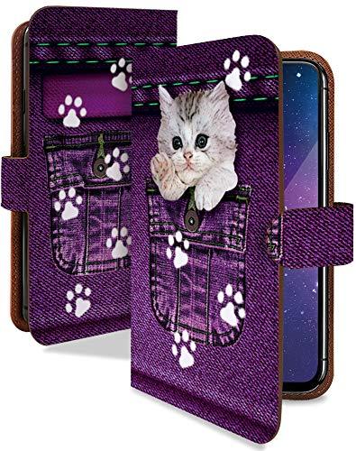 ARROWS NX F-01F ケース 手帳型 携帯ケース 猫 ポケット サバシロ 動物 アニマル柄 おしゃれ アローズ アロウズ スマホケース 携帯カバー f01f 猫柄 カメラレンズ全面保護 カード収納付き 全機種対応 t0002-00461